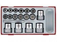18 dele Sæt med sekskantede udtrækkere Teng Tools TTBE18