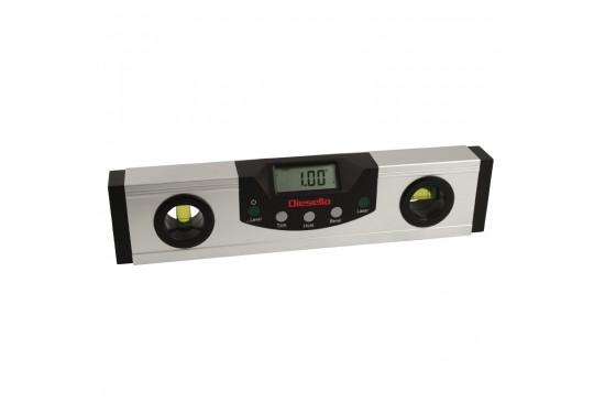 Digital vaterpas 600 mm/0,05° med +-laser- og LED lys