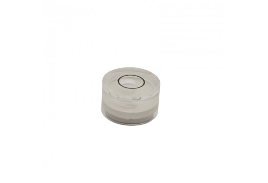 Dåselibelle Ø14 mm cyl. 8 mm højde, m. akryl glas (type 5)