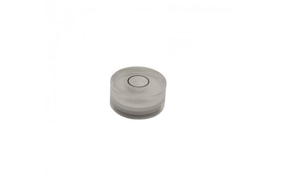 Dåselibelle Ø20 mm cyl. 9 mm højde, m. akryl glas (type 5)