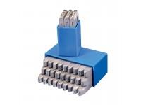 Bogstav prægestempler (A-Z+&) 1,5 mm i plastetui (standard)