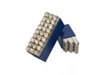 Bogstav prægestempler (A-Z+&) 3 mm i plastetui (Extra)