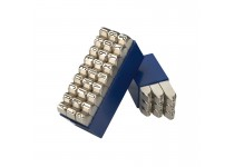 Bogstav prægestempler (A-Z+&) 15 mm i plastetui (Extra)