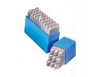 Bogstav prægestempler (A-Z+&) 12 mm i plastetui (Low stress)