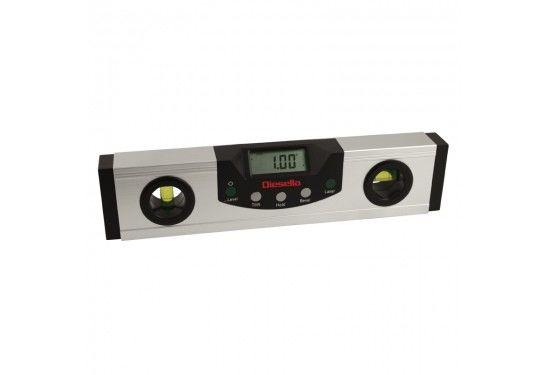 Digital vaterpas 230 mm/0,05° med +-laser- og LED lys