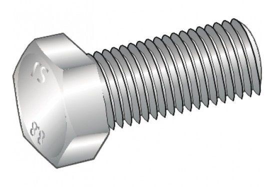 Blankforzinket stålsætskrue Essve med helgevind m6x25 - 50 stk
