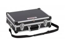 Aluminiums kuffert sort 420x300x125 mm