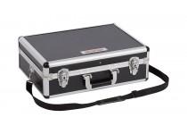 Aluminiums kuffert sort 460x330x155 mm