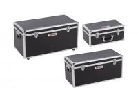Aluminiums værktøjskasser sort 3 dele