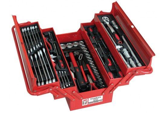 Værktøjskasse Holzmann med 86 dele