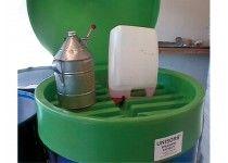 Spildolielåg til 200 l olietromle.