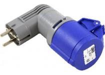 Adapter schuko-cee 216c6 blå