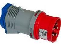Adapter cee-schuko 416-6 röd