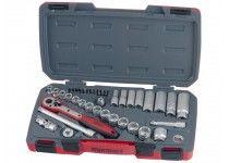 """Topnøglesæt med 3/8"""" □-fatning Teng Tools T3839"""