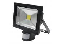 Arbejdslampe LED-20W-230V sensor - sort