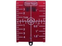 Målplade Swiss Level magnetisk, rød m/fod