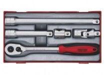 """Skraldenøglesæt med 1/2"""" □-fatning Teng Tools TT1205 - 5 dele"""