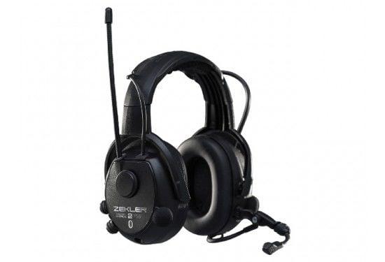 Zekler 412rdb høreværn med bluetooth, batteri + oplader inkl.