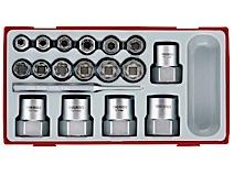 Image of   18 dele Sæt med sekskantede udtrækkere Teng Tools TTBE18