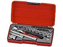 """Topnøglesæt med 1/4"""" □-fatning Teng Tools T1424S"""