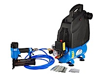 1.5 HK 24L Ferax Oliefri kompressor kit sæt inkl. sømpistol og møtrikspænder mv.
