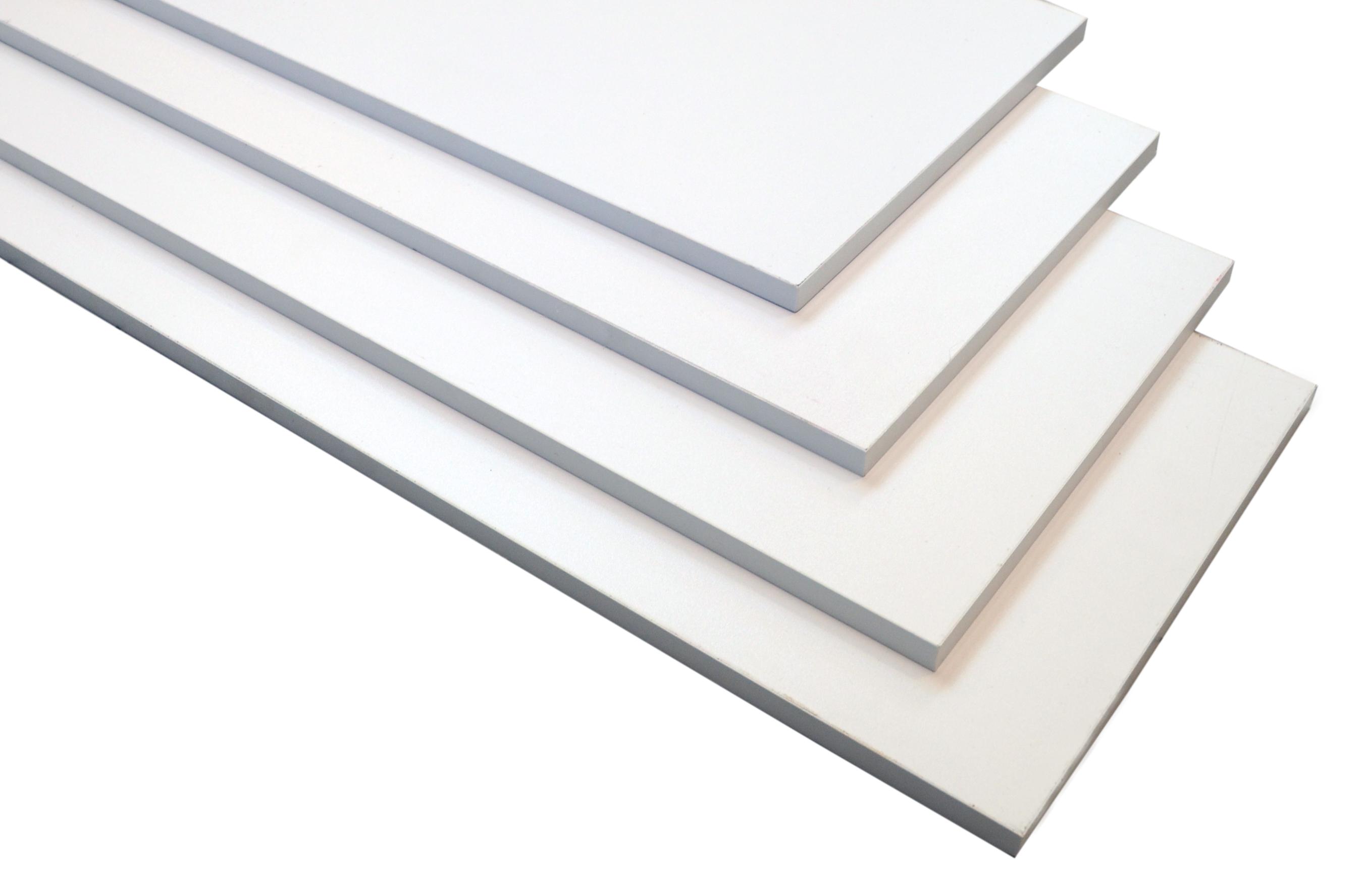 Hylde 60x30x1,5 cm. - hvid