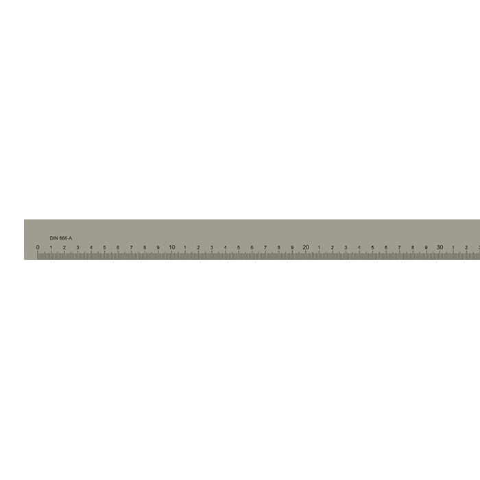 Målestav m. gradering form A 1000x40x8 mm