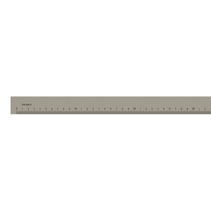 Målestav m. gradering form A 2000x50x10 mm