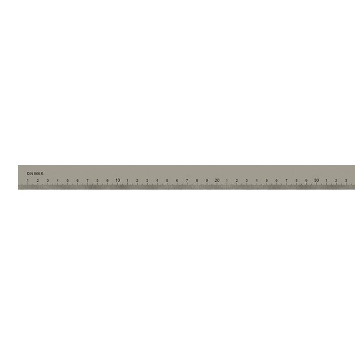 Målestav m. gradering form B 1000x30x6 mm