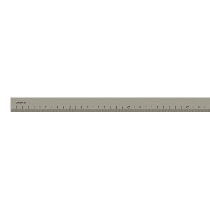Image of   Målestav m. gradering form B 1000x30x6 mm