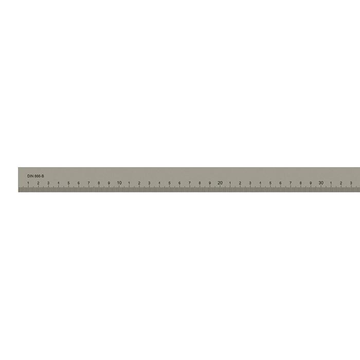Målestav m. gradering form B 2000x40x8 mm