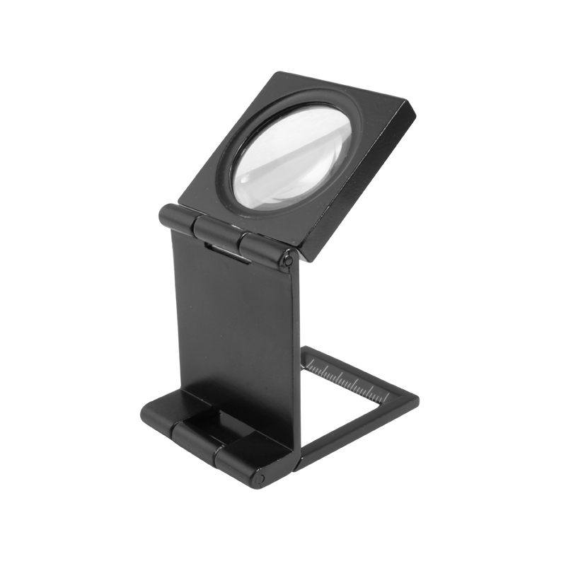 Image of   Foldbar lup 6X forstørrelse Ø30 glaslinse i metalhus