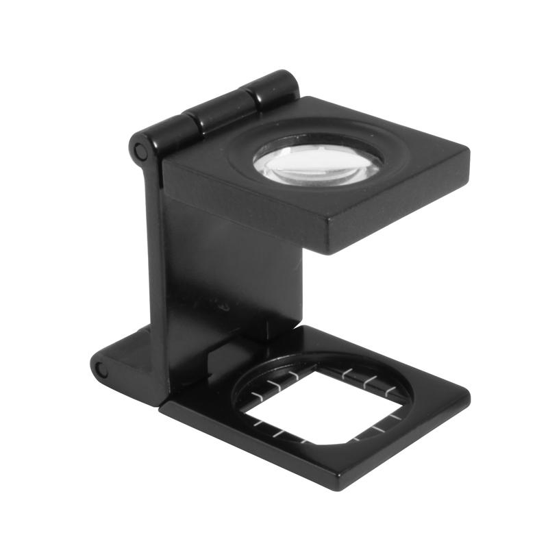 Image of   Foldbar lup 7X forstørrelse Ø15 glaslinse i metalhus