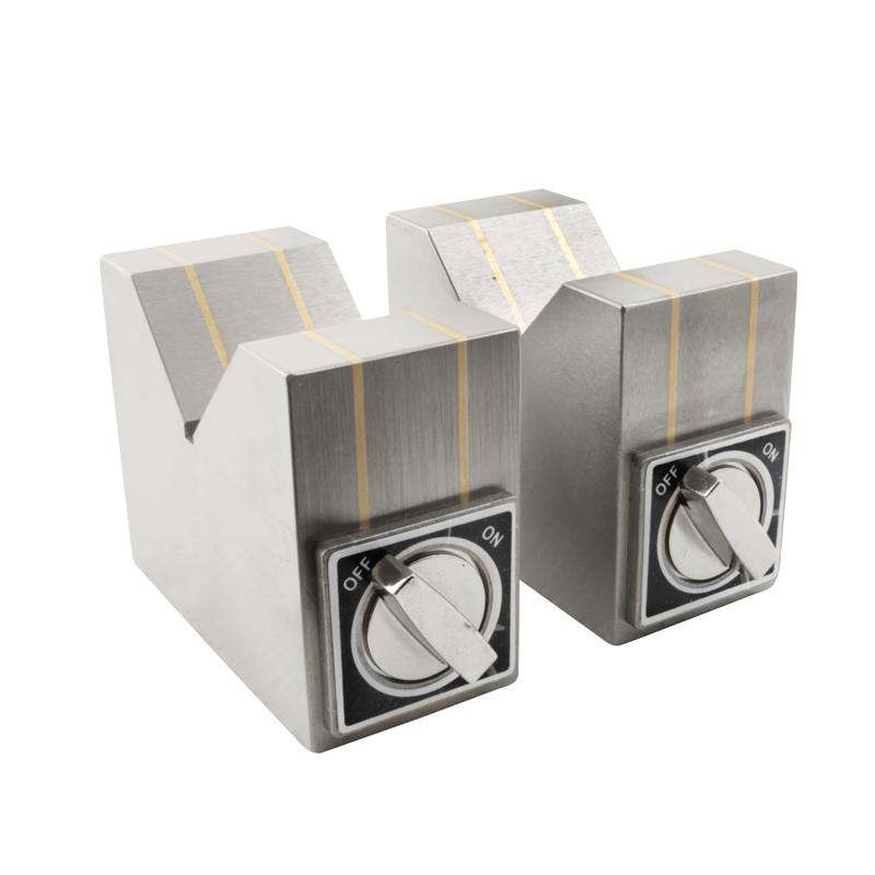 Magnet V-blok 100x50x80 mm med on/off funktion (2 stk