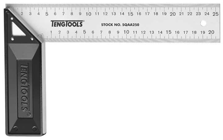 Snedkervinkel med gering og aluminiumanslag teng tools sqa200  -  sqa300