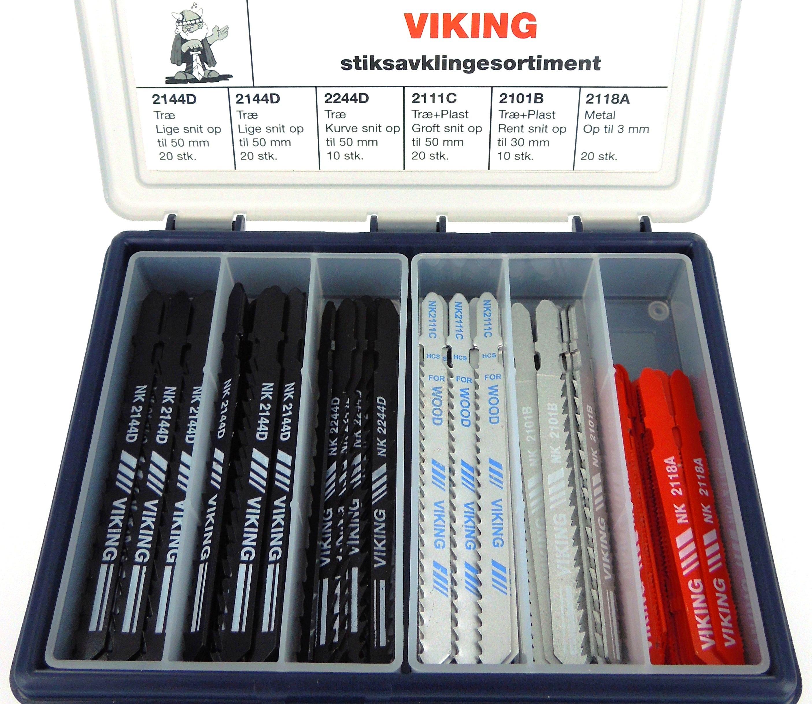 Viking el-stiksavblade sortiment á 100stk.