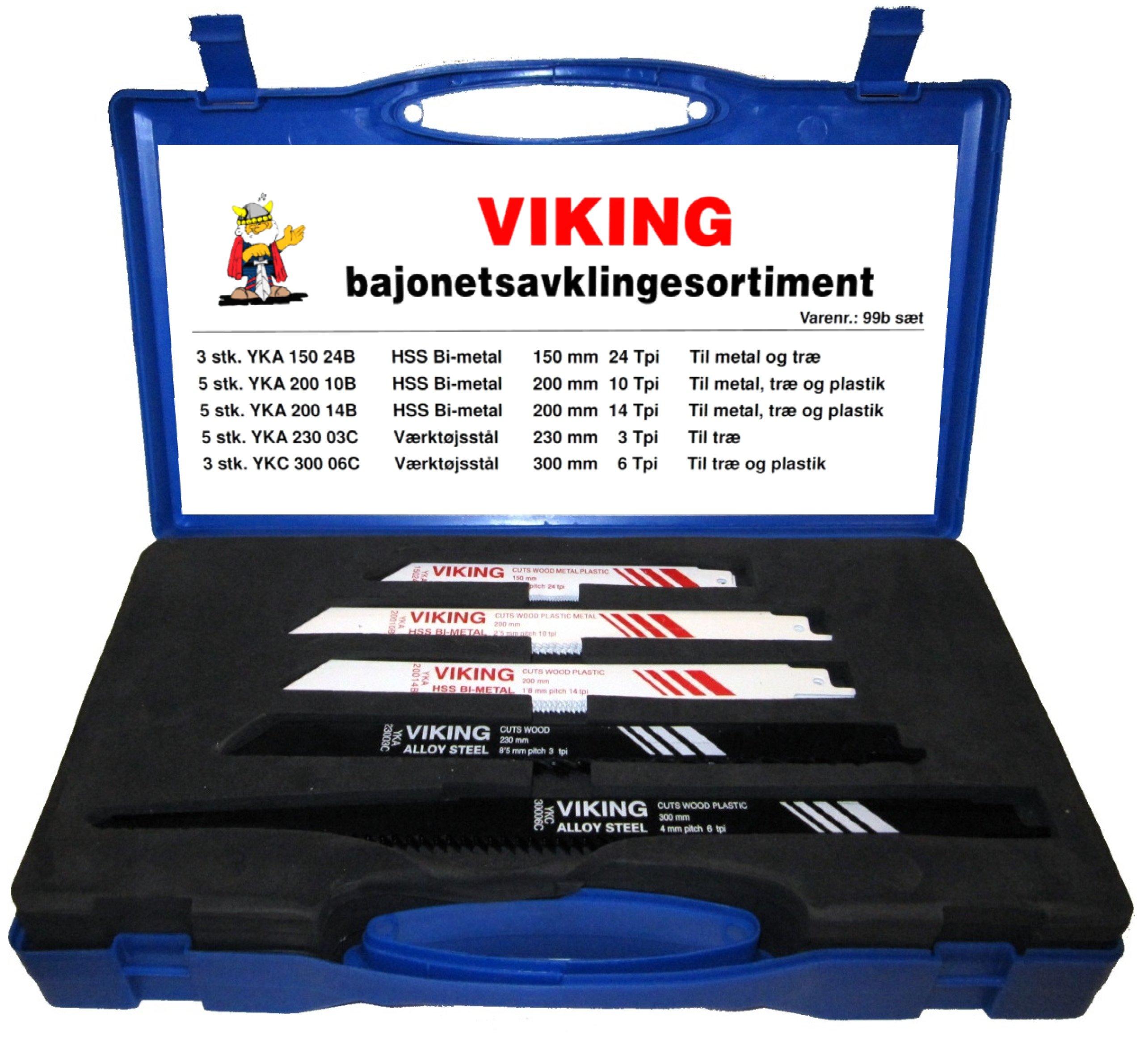 Viking Bajonet savblade i sæt a 21 stk