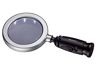 3x Forstørrelsesglas med belysning Tengtools
