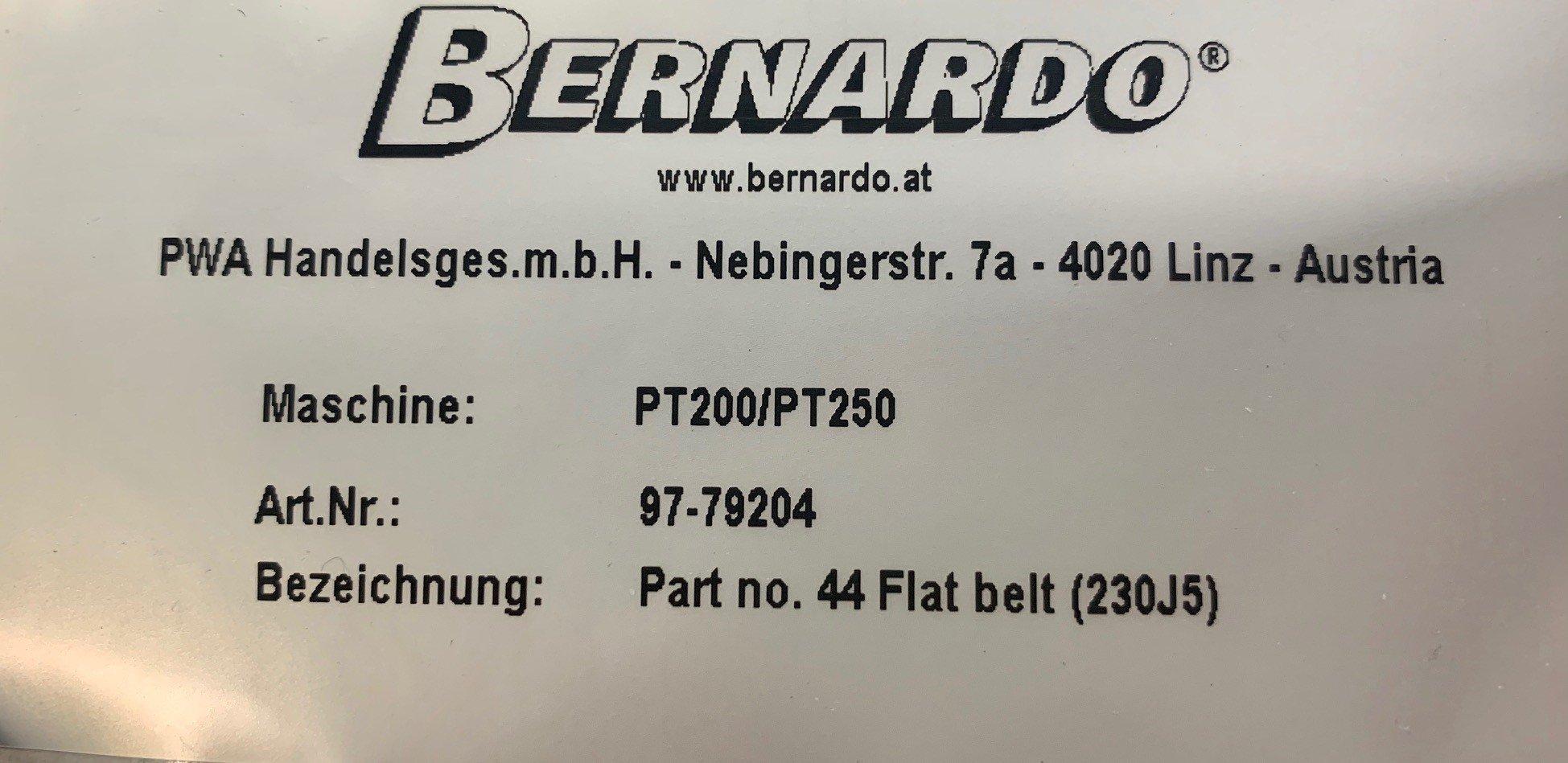 Billede af PT 250 / PT200 Drivrem del 44 Bernardo