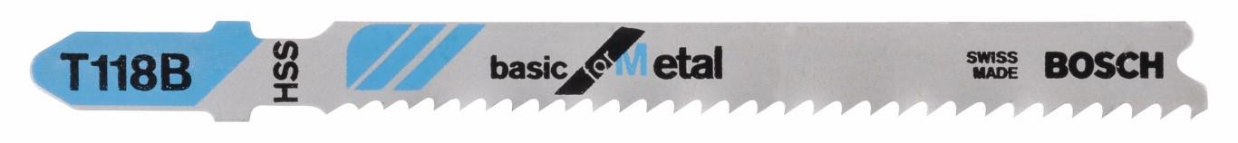 Stiksavsklinge T 118 B Basic for Metal