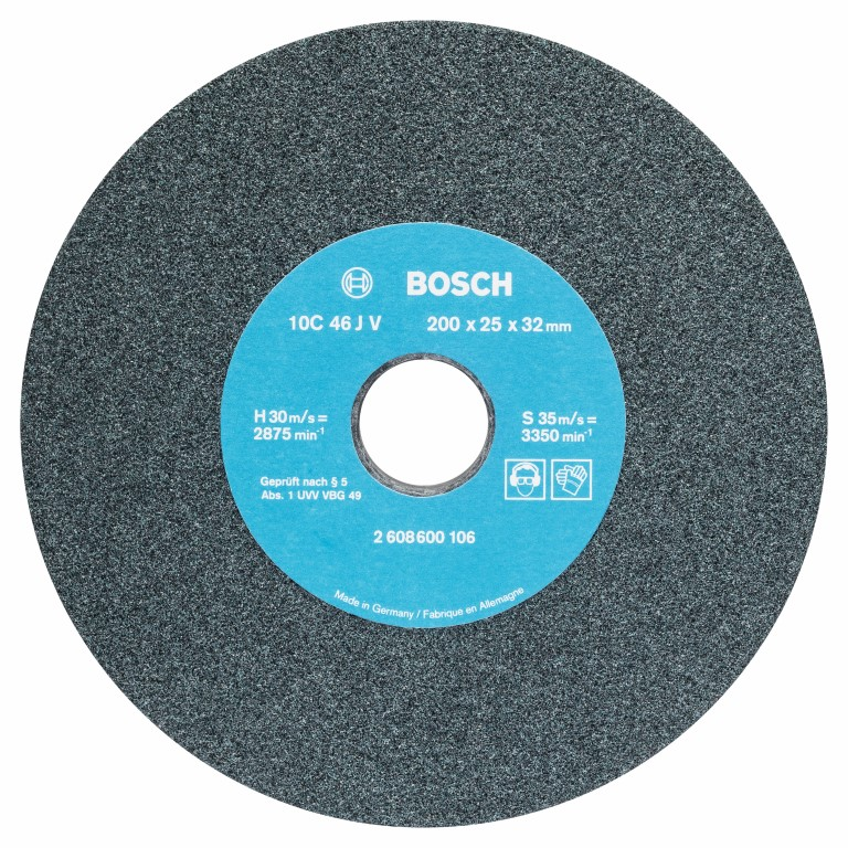 Image of   Slibeskive til bænksliber 200 mm, 32 mm, 46