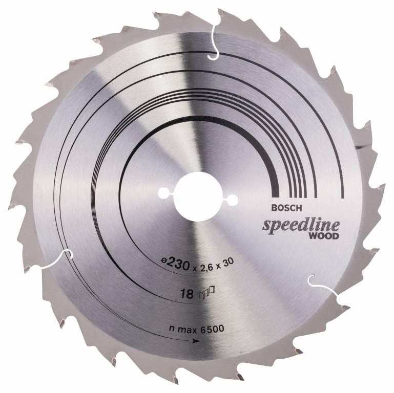 Rundsavsklinge Speedline Wood 230 x 30 x 2,6 mm, 18