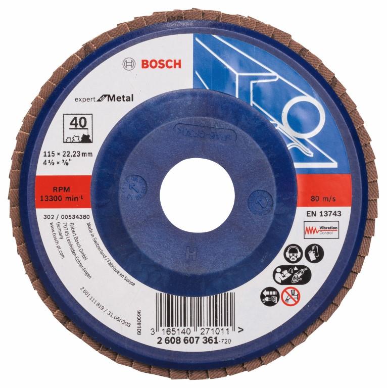 Rondelslibeskive X551, Expert til metal 115 mm, 22,23 mm, 40