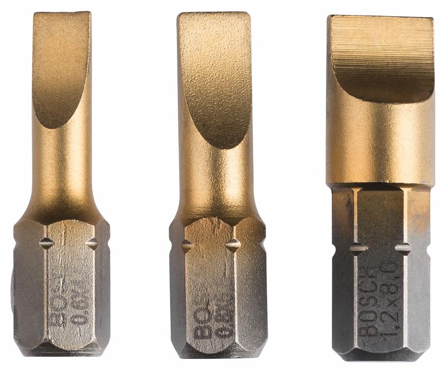 Image of   Skruebitsæt Max Grip (S) med 3 dele S 0,6x4,5; S 0,8x5,5; S 1,2x8,0; 25 mm
