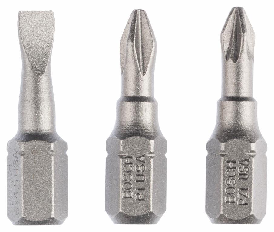 Image of   Skruebitsæt ekstra hård (blandet) med 3 dele S 0,6x4,5; PH1; PZ1; 25 mm