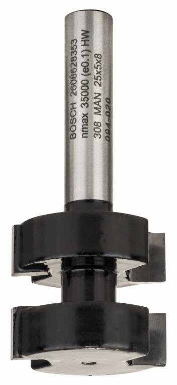 Image of   Fjederfræser 8 mm, D1 25 mm, L 5 mm, G 58 mm