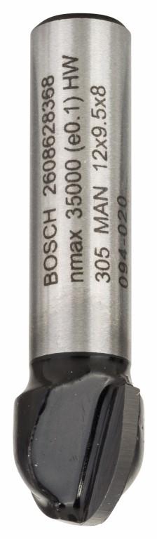 Image of   Hulkelfræser 8 mm, R1 6 mm, D 12 mm, L 9,2 mm, G 40 mm