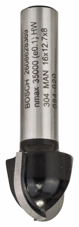 Image of   Hulkelfræser 8 mm, R1 8 mm, D 16 mm, L 12,4 mm, G 45 mm