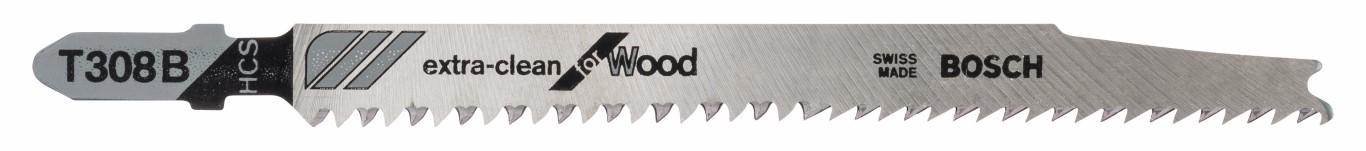 Stiksavsklinge T 308 B Extraclean for Hard Wood