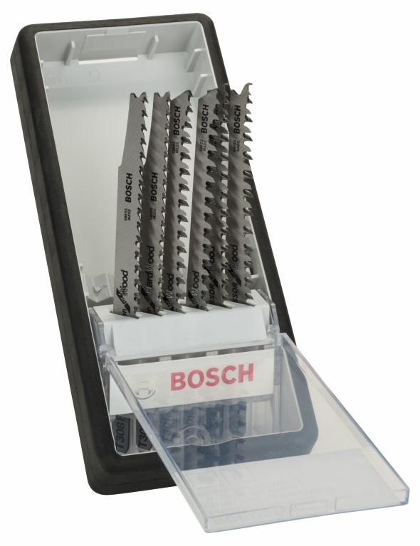 Image of   6 dele Robust Line-stiksavklingesæt Wood Expert T-skaft T 308 B; T 308 BF; T 301 BCP (2x); T 234 X (2x)